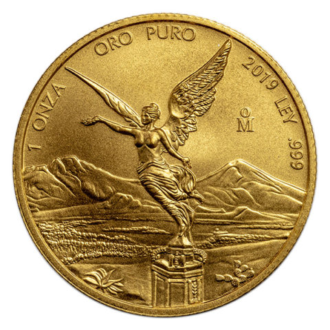 2019 Mexican Libertad gold coin obverse