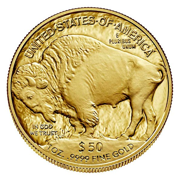 2020 American Buffalo gold proof coin reverse