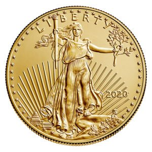 2020 American Eagle gold coin obverse