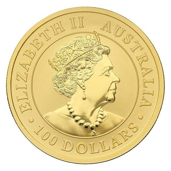 2020 Australian Kangaroo gold coin reverse