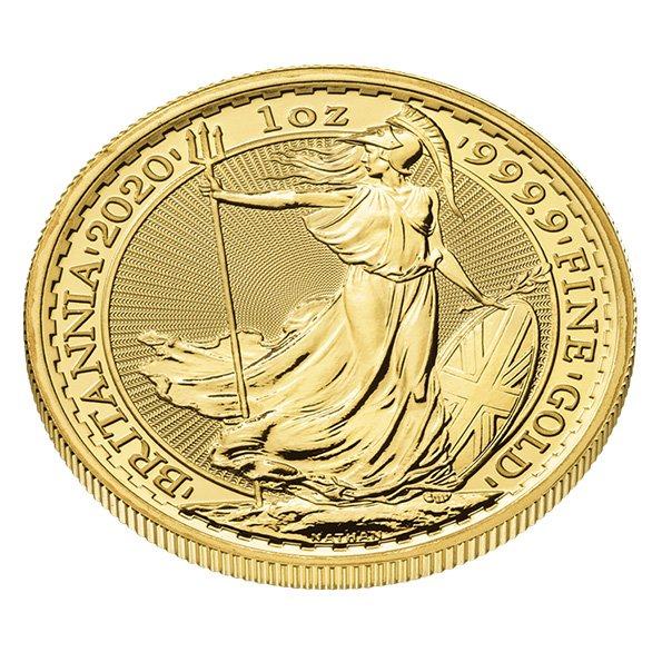 2020 Gold Britannia angle