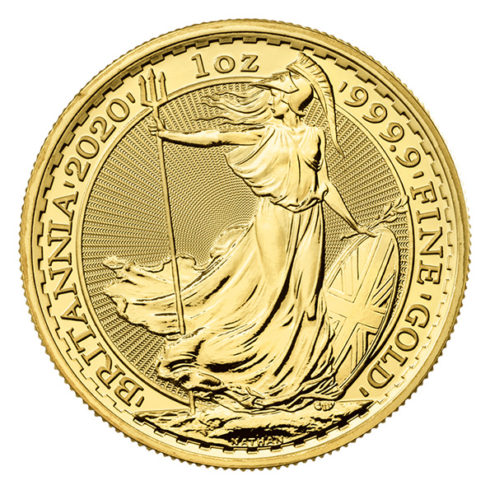 2020 Gold Britannia obverse