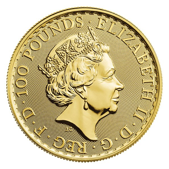 2020 Gold Britannia reverse