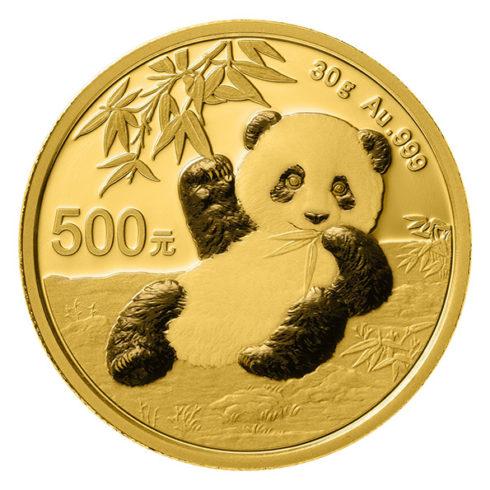 2020 gold Chinese Panda obverse