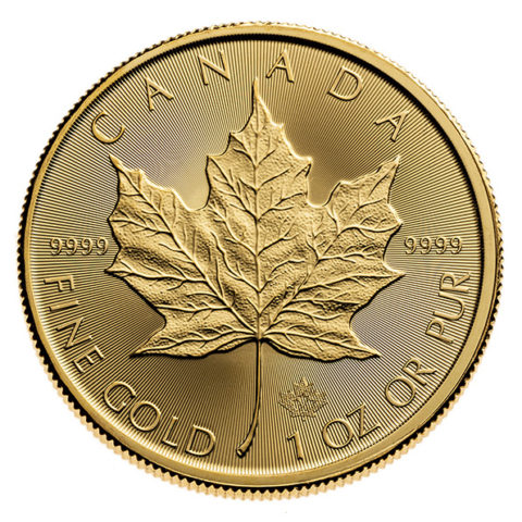 2020 Gold Maple Leaf coin reverse