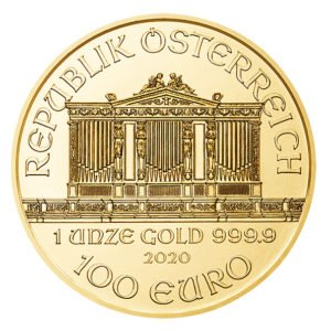2020 Vienna Philharmonic gold coin obverse