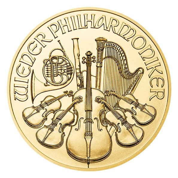 2020 Vienna Philharmonic gold coin reverse
