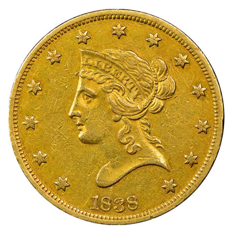$10 Liberty Head gold coin obverse