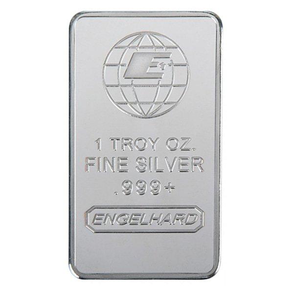 1 oz Engelhard silver bar obverse