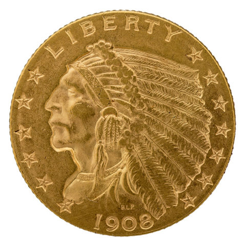 $2.50 Indian Head gold coin obverse