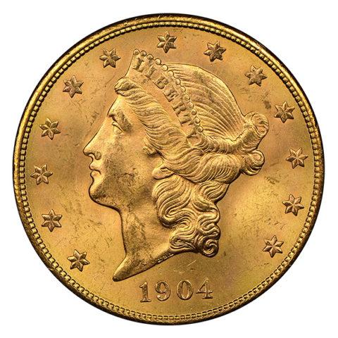 20 dollar Liberty Head Double Eagle obverse