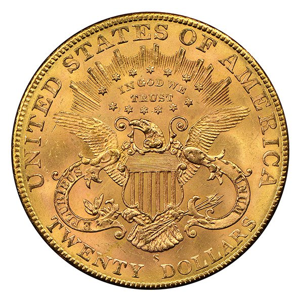 20 dollar Liberty Head Double Eagle reverse