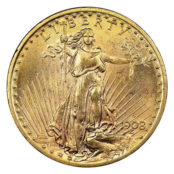 20 dollar Saint Gaudens obverse