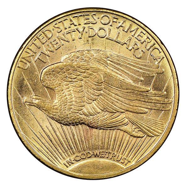 20 dollar Saint Gaudens reverse
