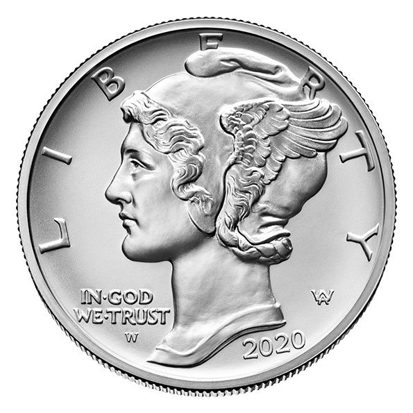 2020 American Eagle palladium coin obverse