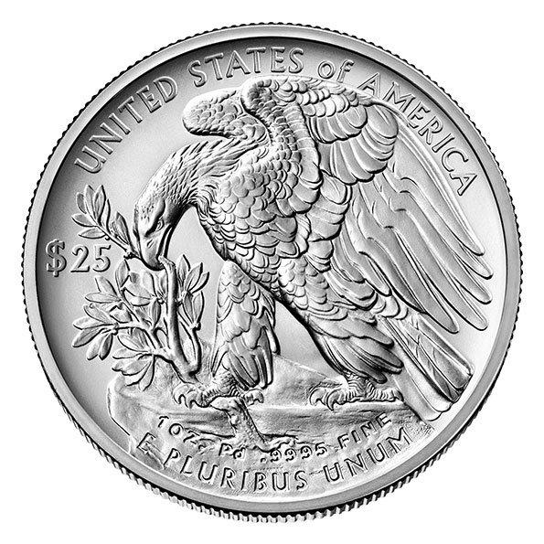 2020 American Eagle palladium coin reverse