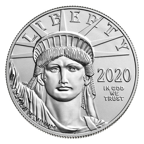 2020 American Eagle platinum coin obverse