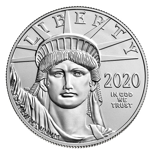 2020 American Eagle platinum coin obverse