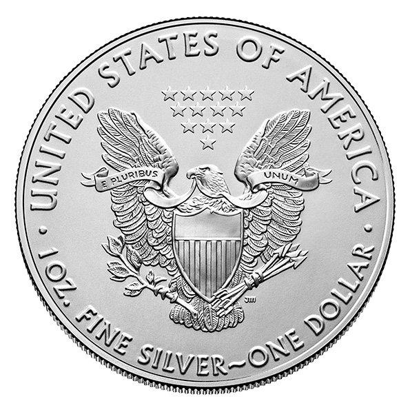 2020 American Eagle silver coin reverse