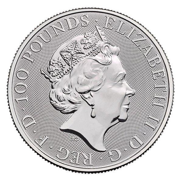 2020 platinum Britannia obverse