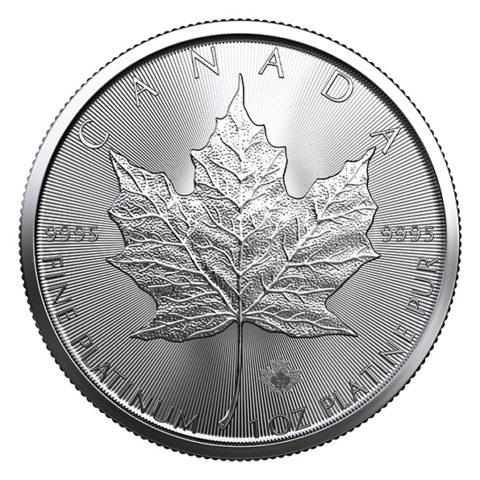 2020 Canadian platinum Maple Leaf obverse