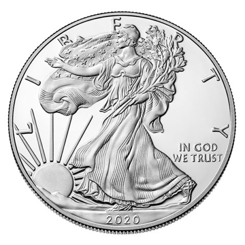 2020 proof silver American Eagle obverse