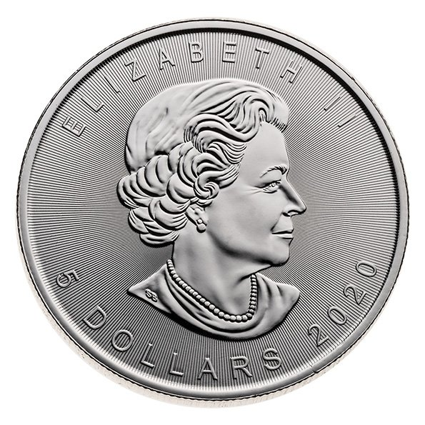 2020 Silver Maple Leaf coin reverse