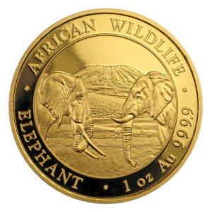 2020 Somalia elephant gold coin obverse
