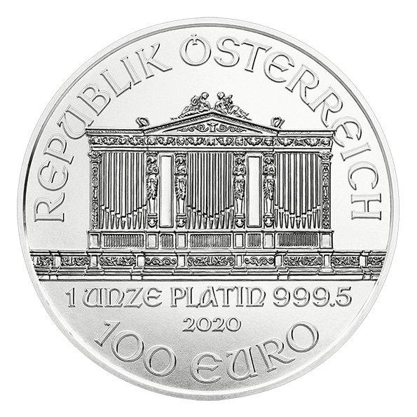 2020 Vienna Philharmonic platinum coin obverse