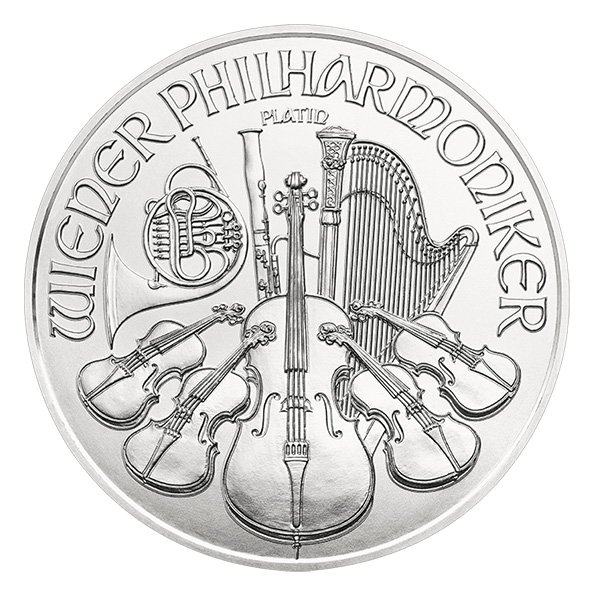 2020 Vienna Philharmonic platinum coin reverse