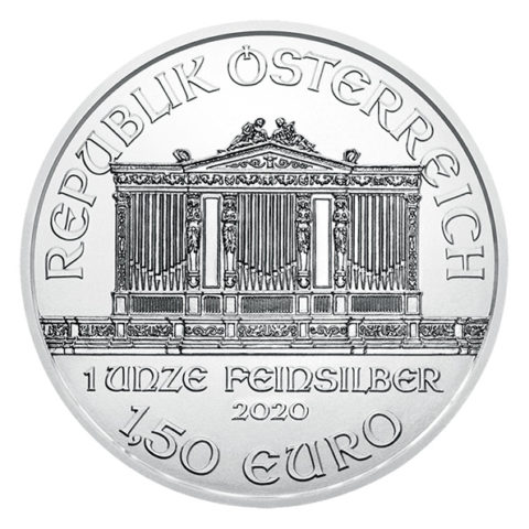 2020 Vienna Philharmonic silver coin obverse