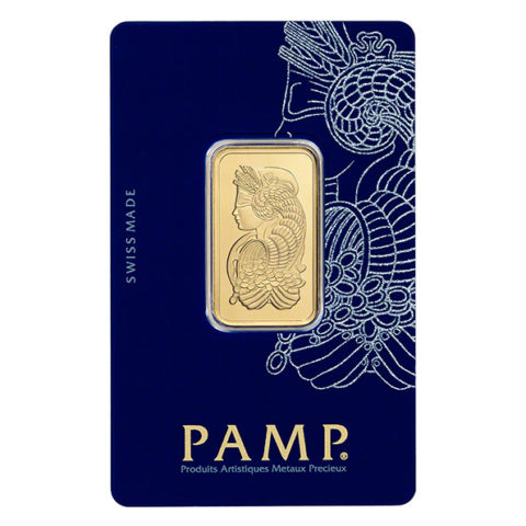 20g PAMP gold bar in assay