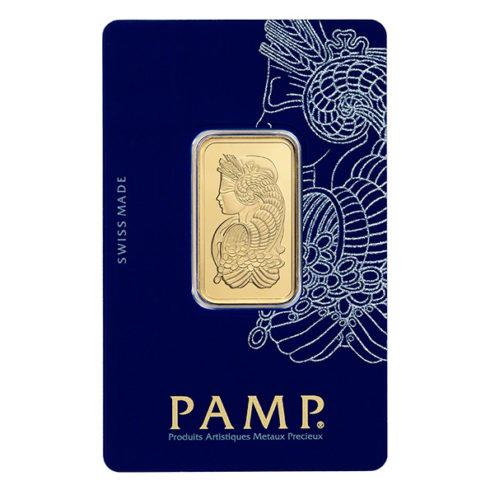 20g PAMP gold bar in assay