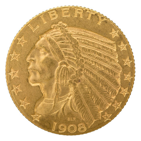 $5 Indian Head gold coin obverse