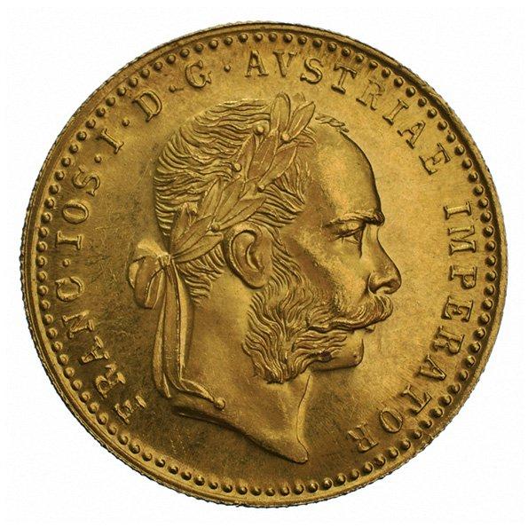 Austrian 1 Ducat gold coin obverse