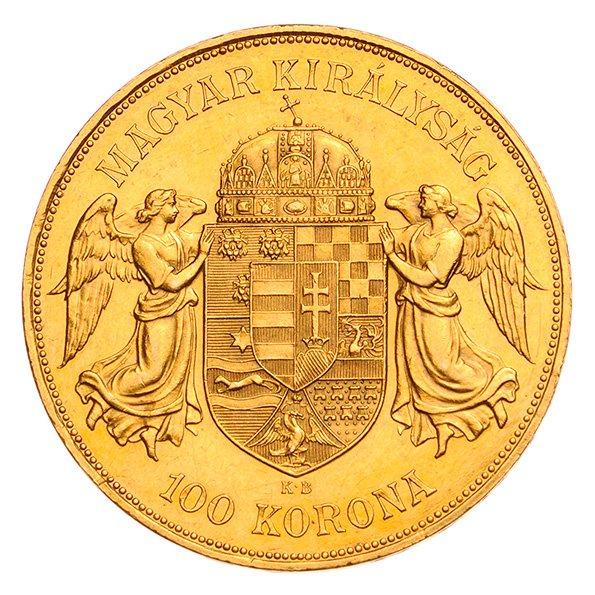 Hungarian 100 Korona reverse