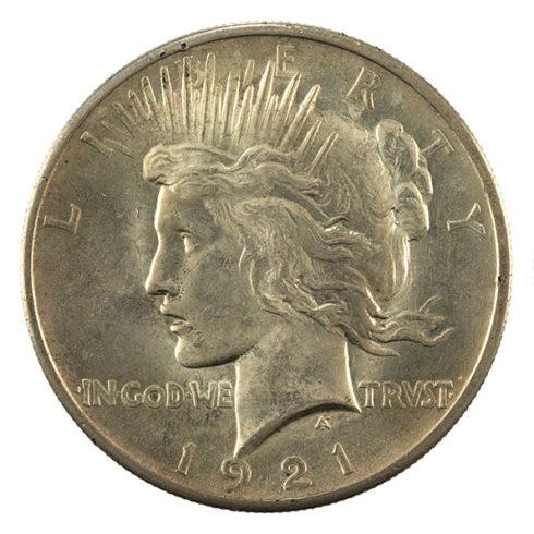 US Peace silver dollar obverse