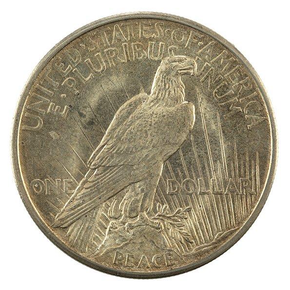 US Peace silver dollar reverse
