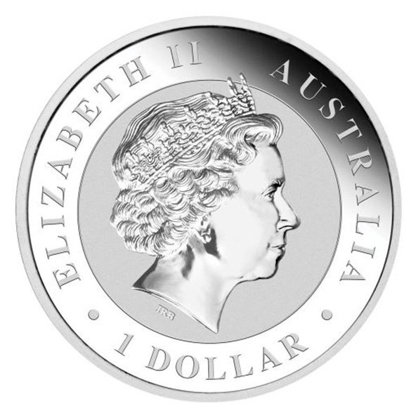 Australian Kookaburra silver coin obverse