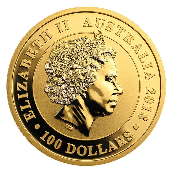 Australian swan one ounce gold coin obverse