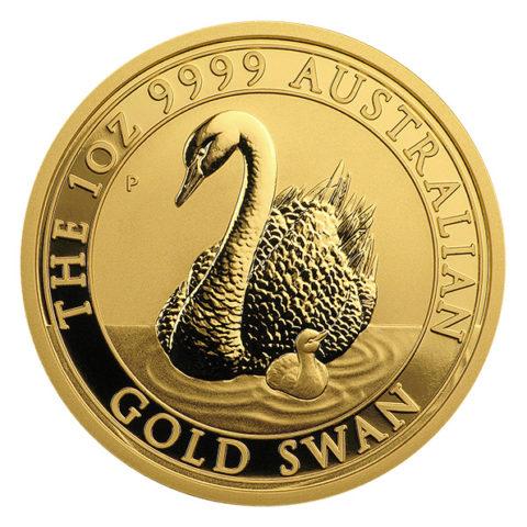 Australian swan one ounce gold coin reverse