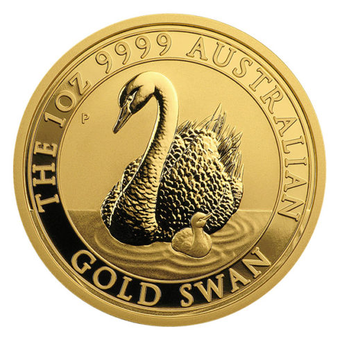 Australian swan one ounce gold coin reverse