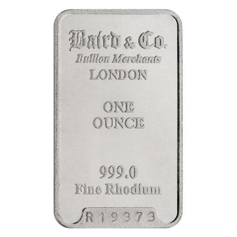 Baird & Co. rhodium bar