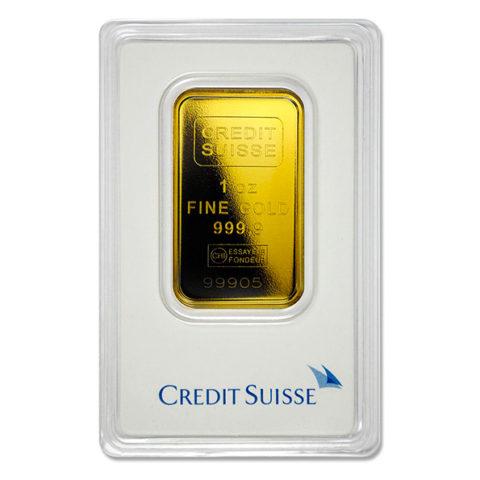 Credit Suisse gold bar 1oz in assay
