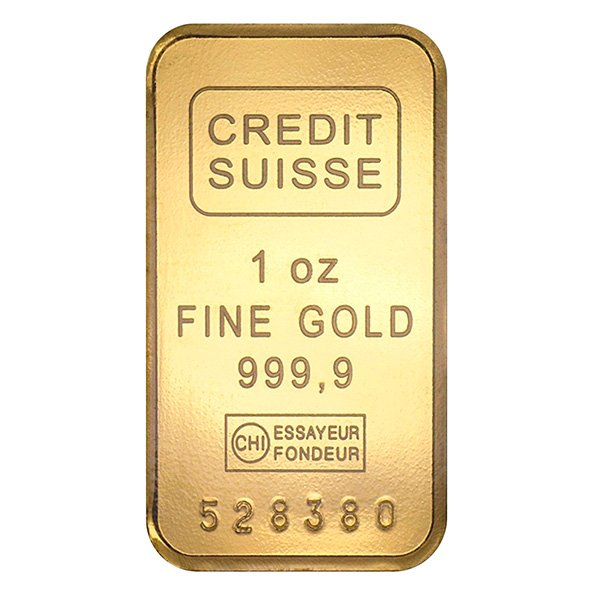 Credit Suisse gold bar 1oz