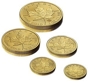 gold Maple Leaf fractional coins