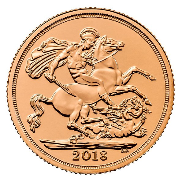 Great Britain Gold Sovereign coin reverse