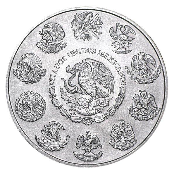 Mexican Libertad silver coin reverse