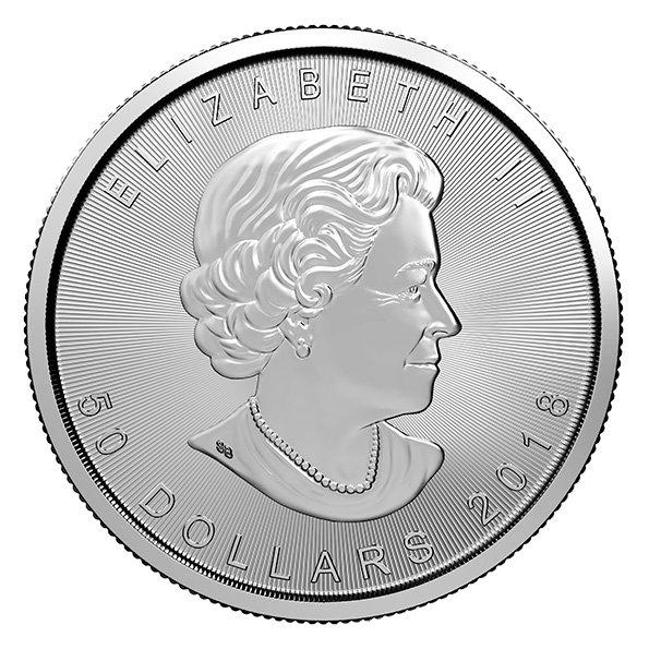 palladium Maple Leaf coin obverse