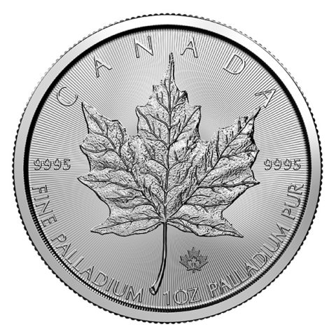 palladium Maple Leaf coin reverse